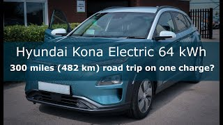 Hyundai Kona Electric 64 Kwh | Can It Really Do 300 Miles (482 Km) Road Trip On One Charge?