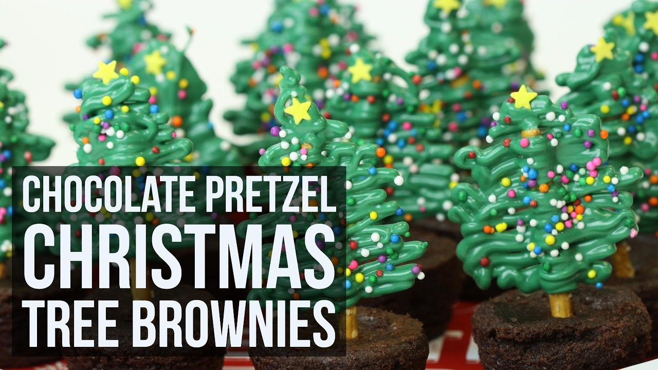 simple easy chocolate pretzel christmas tree brownies creative christmas recipe by forkly youtube