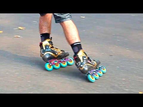 Хоккейное торможение на роликах - Parallel slide