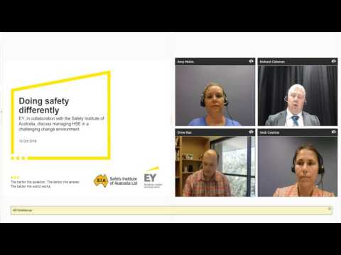 SIA Webinar: Doing Safety Differently - Managing in a Challenging Change Environment
