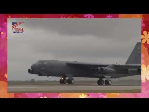 B 52 Bombers Scrambling  All Bombers Minimum Interval Takeoff   B 52爆撃機のスクランブル・15秒間隔で基地の全ての爆撃機を緊急発進