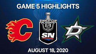 NHL Highlights | 1st Round, Game 5: Flames Vs. Stars – Aug. 18, 2020