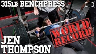 Jen Thompson Benches 314.5lbs Breaks Own World Record - Arnold Classic 2017