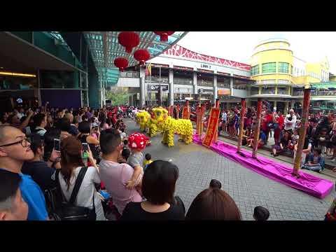 Chinese New Year Lion Dance Show 2018 at The Curve Mutiara Damansara