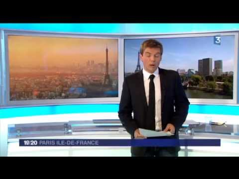 Eco-Riders sur France 3 - 19/20 : Edition Paris Ile-de-France du 26 aout 2015