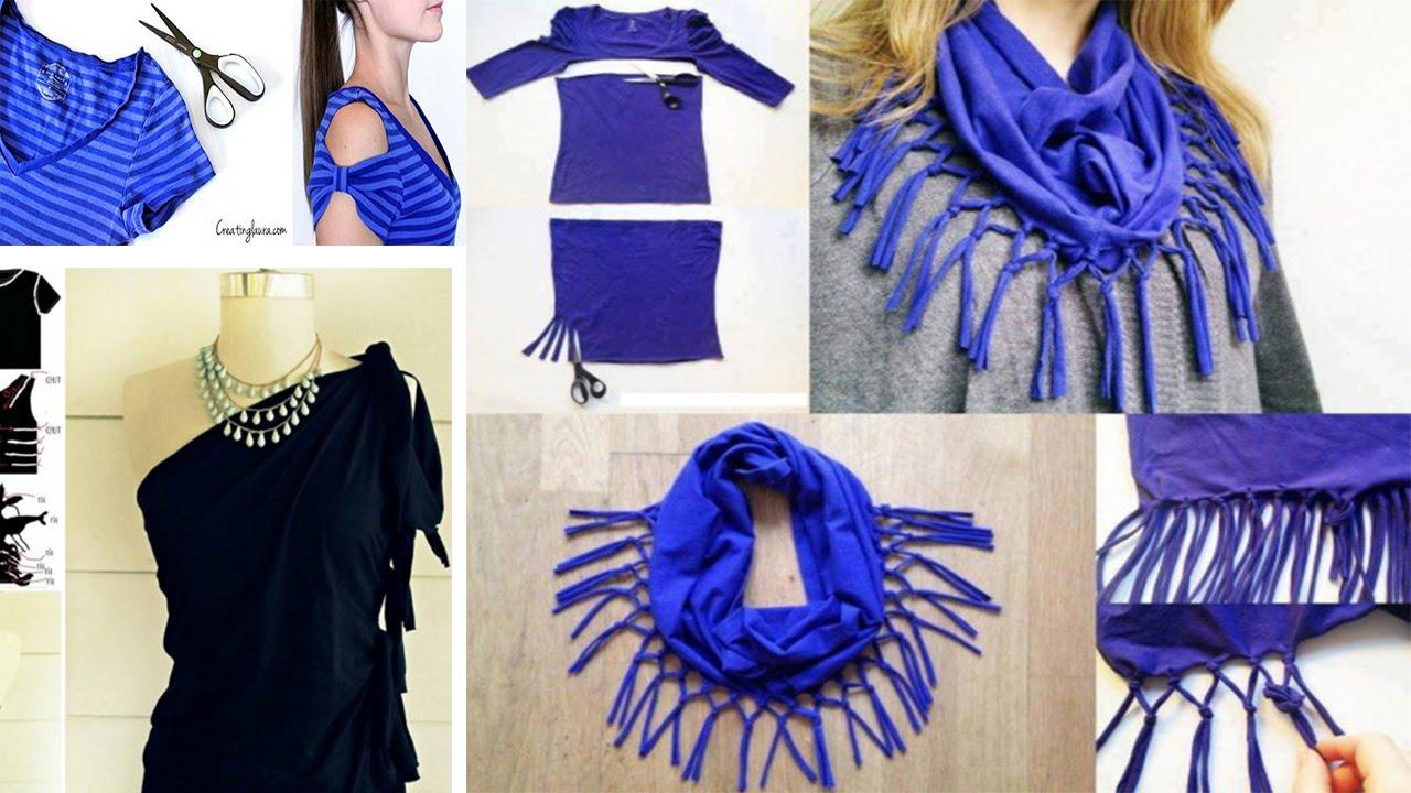 2eaf801a2  ❤ اكثر من 20 طريقة لتحويل الملابس القديمة لأخرى جديدة بطريقة مبتكرة ❤ ♛ -  YouTube