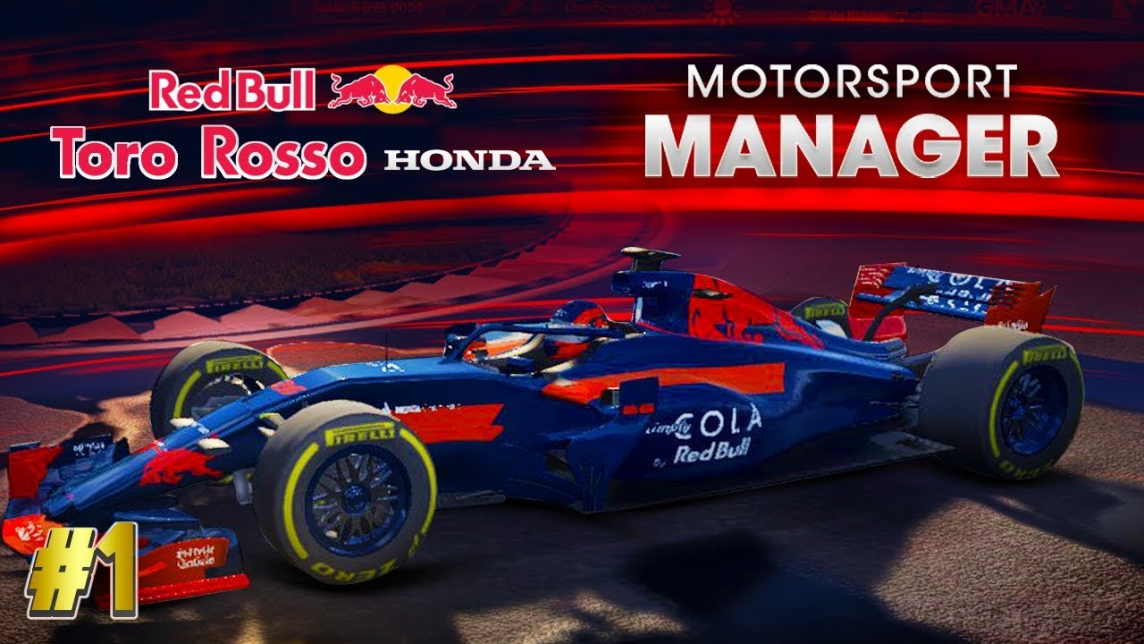 el retorno a motorsport manager f1 2018 mod modo carrera toro rosso honda 1 youtube. Black Bedroom Furniture Sets. Home Design Ideas