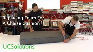 Replace Foam in Sectional Cushions - Chaise Cushion Replacement
