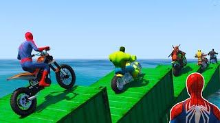 Superhero Bike Stunt GT Racing - Mega Ramp Games (clip 56) screenshot 1