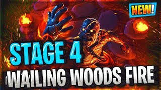 FORTNITE PRISONER SKIN STAGE 4 UBICACION CLAVE, WAILING WOODS FIRE BURNT DOWN EVENT!