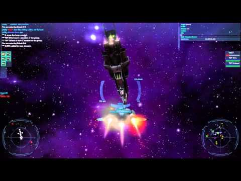 Vendetta Online Gameplay Video #003 - Battle at Deneb Border
