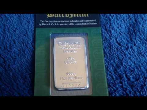 1 Ounce Rhodium Bullion Bar