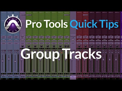 Pro Tools | Quick Tips |  Group Tracks | VCA Workflow And iPad Control