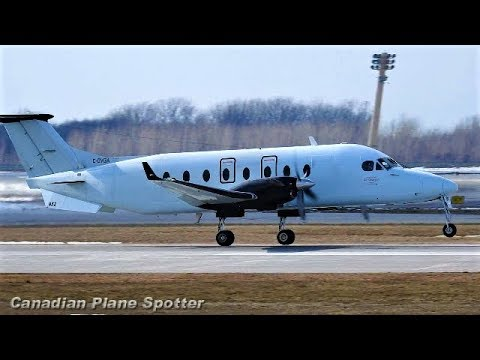 Air Canada Express Beech 1900 Departing Montreal-Trudeau Int'l Airport