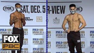 Errol Spence Jr. & Danny Garcia weigh-in before Dec. 5 Championship fight | WEIGH-INS | PBC ON FOX