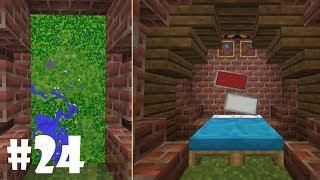 BÜYÜK HARİTA ve GİZLİ YATAK ODASI 24 Minecraft Survival
