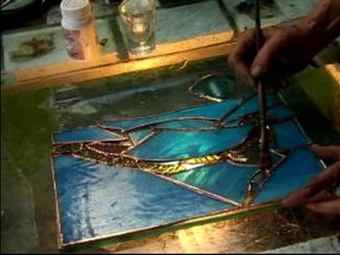 how to make display a stained glass window apply the flux to