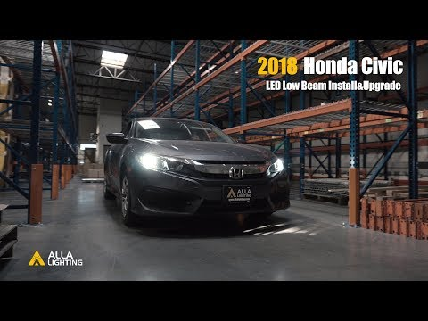 How To Remove Install 2016 2021 Honda Civic Headlights Replacement Youtube