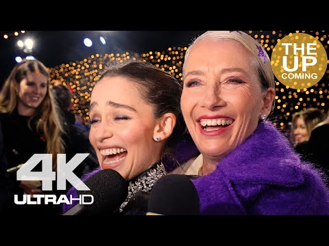 Emilia Clarke And Emma Thompson On Last Christmas, George Michael, Wham! Interview At Premiere
