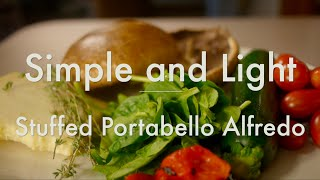 Stuffed Portobello Alfredo With Spinach & Italian Squash