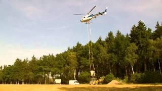 Bodenschutzkalkung mit Hubschrauber im Vogtlandkreis