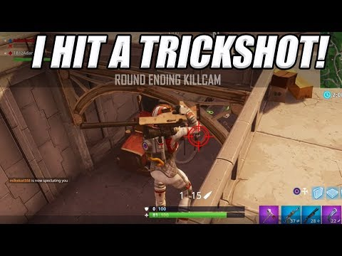 TILTED TOWERS TRICKSHOT! (Fortnite Battle Royale)