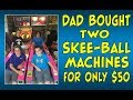 Dad Bought Two Skee-Ball Machines for Only $50 | Garage Arcade