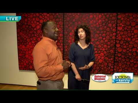 Kenny experiences artist Yayoi Kusama's Infinity Mirrors