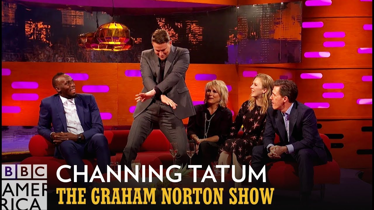 Channing Tatum Has A Great Victory Dance For Usain Bolt - The Graham Norton Show