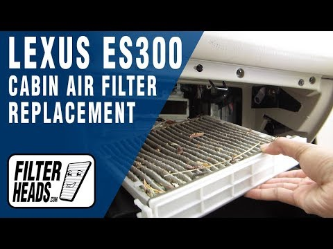 How to Replace Cabin Air Filter Lexus ES330 - YouTube