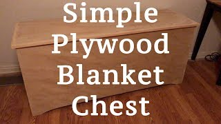 A Simple DIY Plywood Blanket Chest