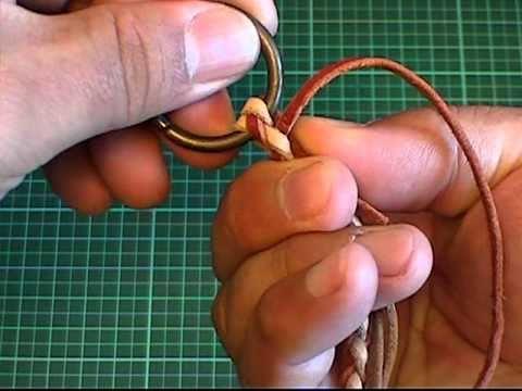 【ウォレットロープの作り方♪④】036:『革紐をナスカン金具に絡める』