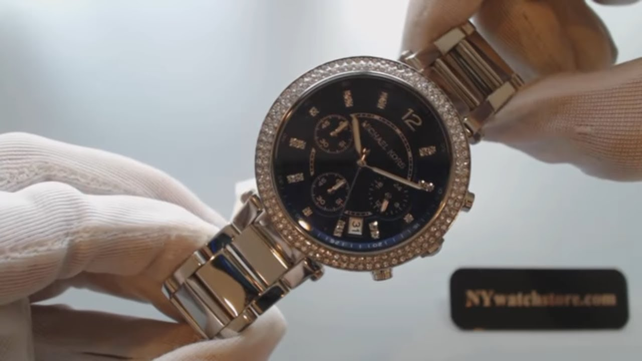 fc704e9c377 Women s Michael Kors Parker Chronograph Glitz Watch MK6117 - YouTube