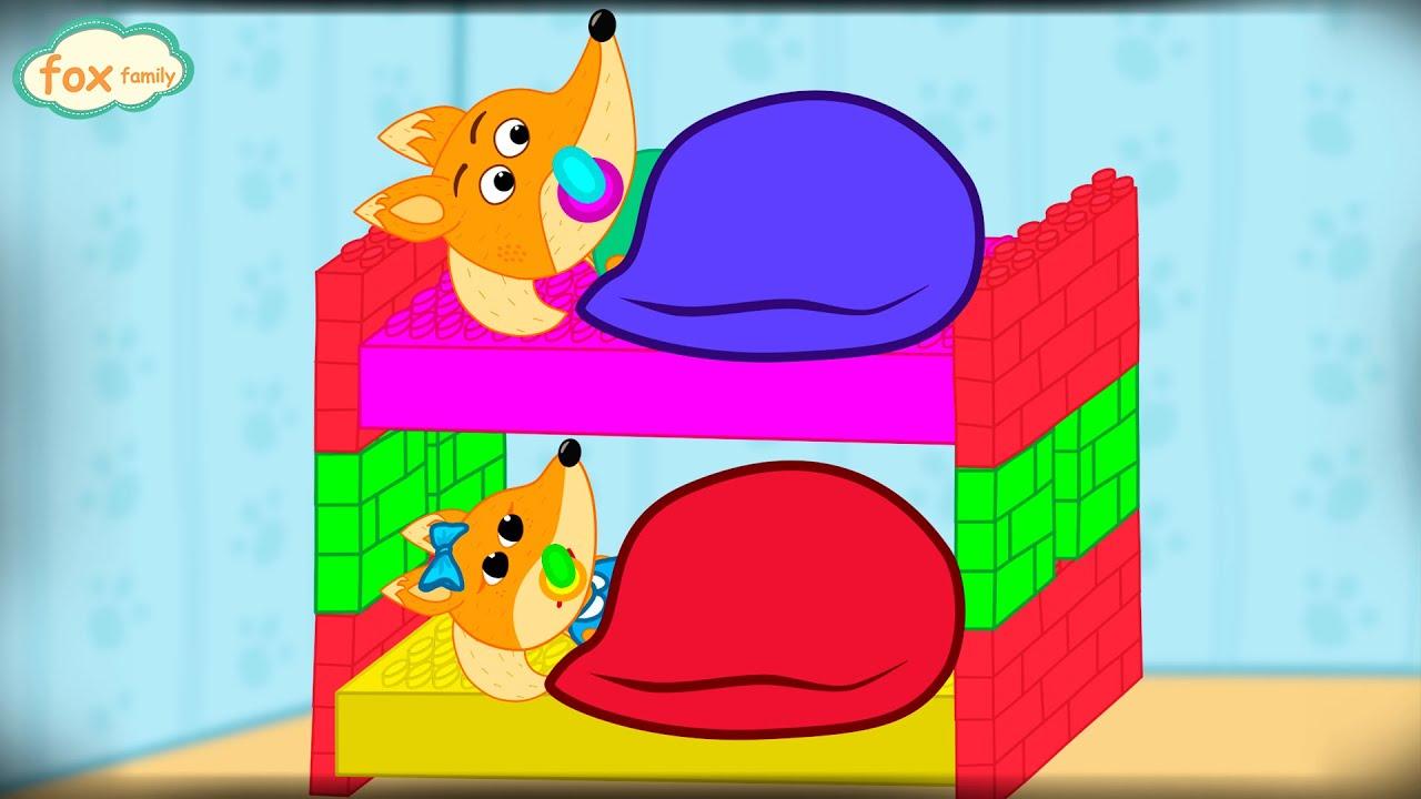Fox Family español nueva temporada construir camas de lego | dibuhos animados para niños #310