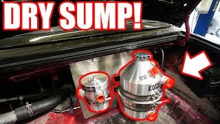 DRY SUMP Install On the LS MIATA!!