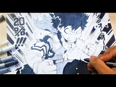 Drawing Deku (Izuku Midoriya) in MANGA STYLE!