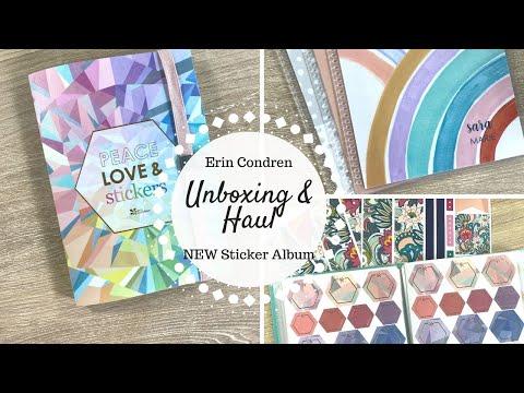 Erin Condren Haul | NEW Sticker Album, Functional Stickers & Covers |