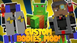 Minecraft Mods | CUSTOM Bodies Mod | Pick Or MAKE Body Parts! | WearMC Mod! (Mod Showcase)
