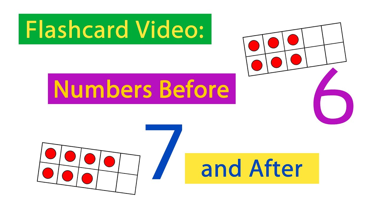 Flashcards practice:Ten Frames 04 numbers Before & After - YouTube