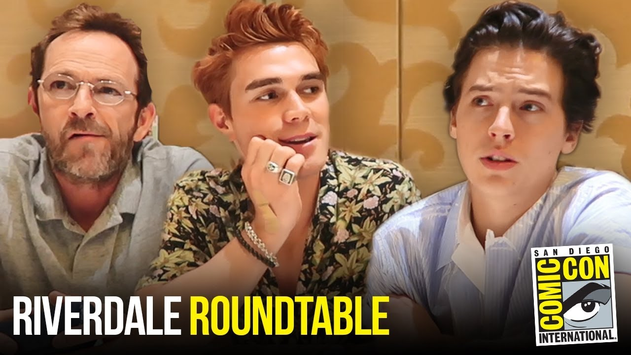 Cole Sprouse, KJ Apa & Luke Perry Riverdale Roundtable Interview at Comic Con 2018