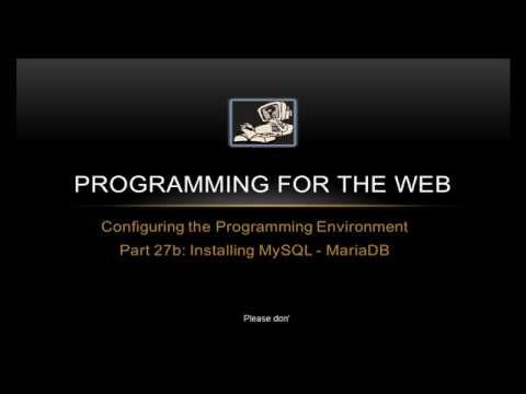 How To Install A MySQL Database - MariaDB - On A RaspberryPi - Programming For The Web