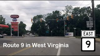 State Route 9 in West Virginia - from Berkeley Springs to Martinsburg