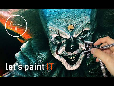 let's paint IT | Pennywise the Clown | Airbrush by Igor Amidzic