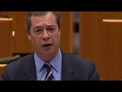 Nigel Farage: Rips EU President Herman van Rompuy