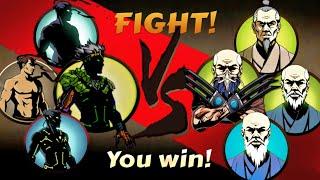 Shadow Fight 2 All Shadow vs All Sensei