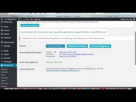 WordPress Backup erstellen mit Updraft - Tutorial