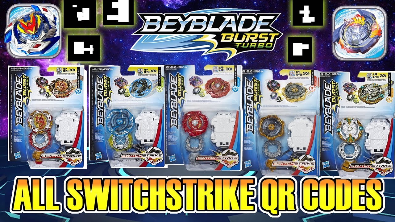 ALL BEYBLADE BURST TURBO QR CODES SWITCHSTRIKE CYPRUS COLLAB