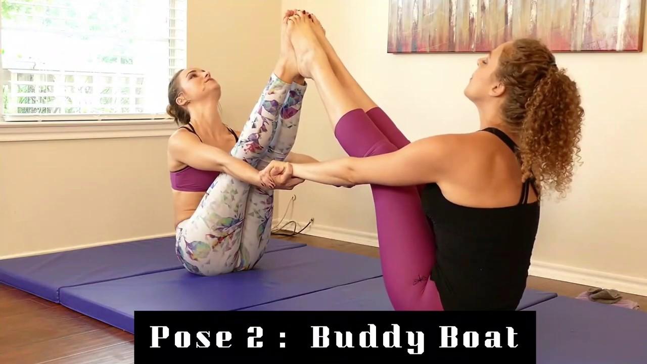 2 Person Yoga Poses Video