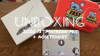 """[UNBOXING] 2020 13"""" MacBook Pro + accessories"""