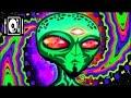 Capture de la vidéo [Hitech Dark Psytrance Mix] Alien Interview By Arcek - Full Album ▫▲○●◦♂♀